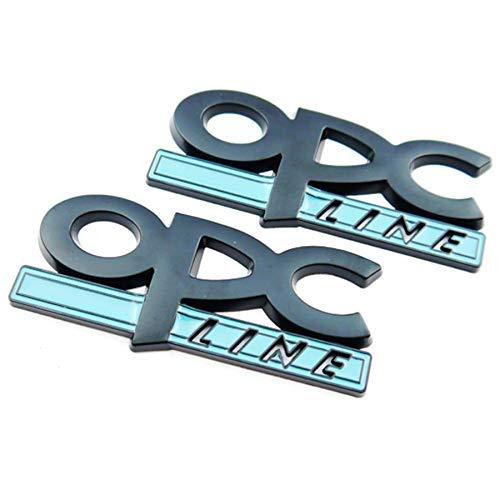 Autodily - Set mit 2 Schwarz OPC Line Heckklappe Abzeichen Emblem Hinten Kofferraum