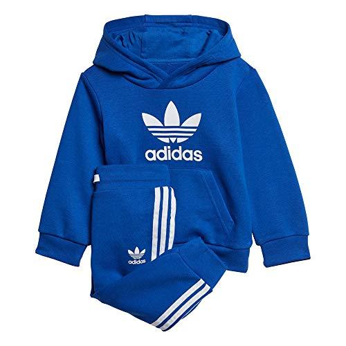 adidas Trefoil Hoodie Set Kapuzenpullover, Königsblau/Weiß, 62 Unisex-Child