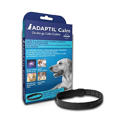 ADAPTIL Calm - Antiestrés para perros - Miedos, Ruidos Fuertes, Aprendizaje, Adopción - Collar M/L para Perros Medianos y Grandes