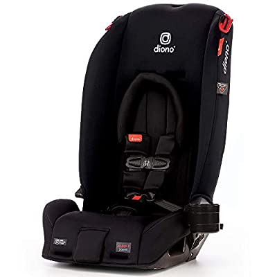 Diono 2020 Radian 3RX, 3-in-1 Convertible, Infant Insert, 10 Years 1 Car Seat, Fits 3 Across, Slim Fit Design, Black Jet