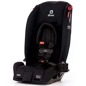 Diono Radian 3RX 3-in-1 Rear and Forward Facing Convertible Car Seat Head Support Infant Insert 10 Years 1 Car Seat Ultimate Safety and Protection Slim Design - Fits 3 Across Jet Black