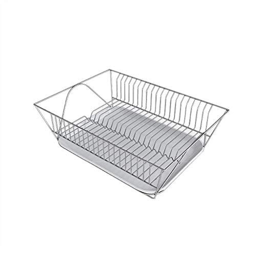 GY Égouttoir, Acier Inoxydable Comptoir De Cuisine Panier De Rangement Vidange Lave-vaisselle Séchoir Évier Argent, 37,5 * 29,5 * 13,5 Cm (Couleur : Silver)