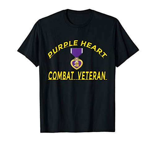 Purple Heart Combat Veteran t-shirt T-Shirt