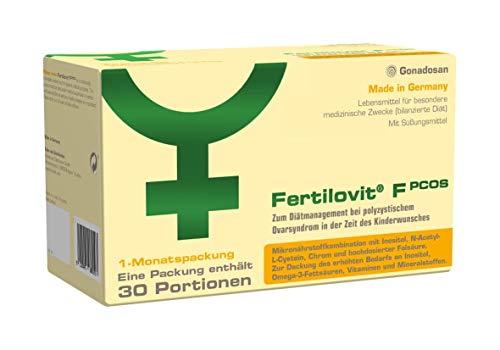 Fertilovit PCOS | 60 Kapseln + 30 Sticks für 30 Tage | zum Diätmanagement bei polyzystischem Ovarsyndrom in der Zeit des Kinderwunsches. / Inositole, Vitamine