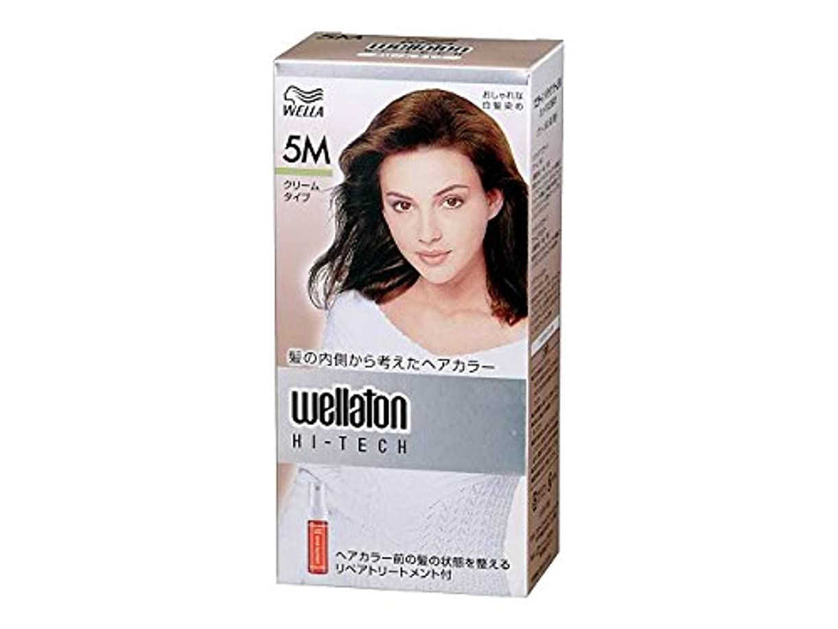 比較的ブランチボーカル【ヘアケア】P&G ウエラトーン ハイテック クリーム 5M グリーン系の深い栗色 医薬部外品 白髪染めヘアカラー(女性用)×24点セット (4902565140459)