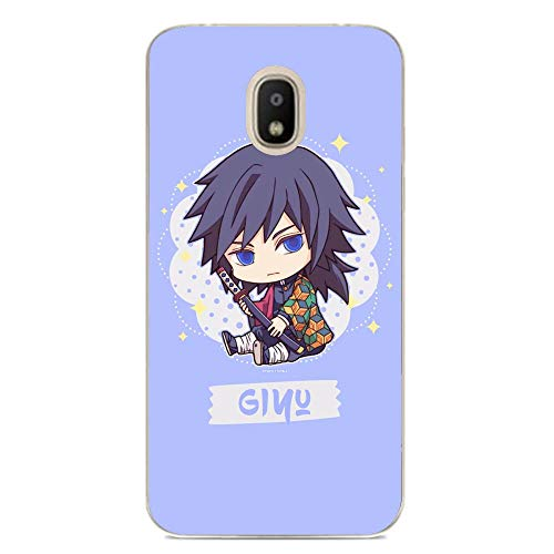 Soft Clear Shockproof Thin Durable Flexible Case for Samsung Galaxy J7 2018-Demon-Slayer Paint Anime 6
