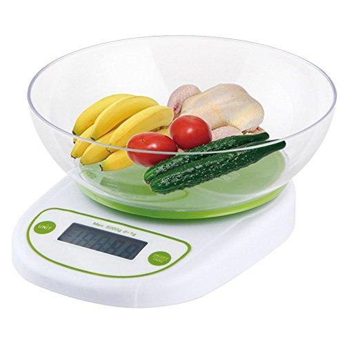 ELEOPTION 1-5000g Digital Kitchen Food Diet Postal Scale Electronic Weight Balance Mirable 11 lb