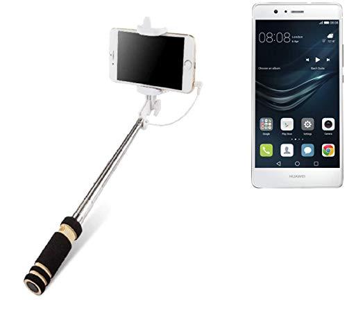 Selfie Stick per Huawei P9 Lite, nero, Monopiede, asta telescopica, Autoritratto