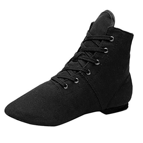 Dragon868 Damen Canvas Jazz Schuhe Balletttanz Fitness Atmungsaktiv Tanzschuhe Hausschuhe Casual Slipper
