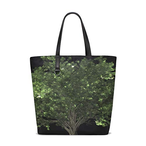 WJJSXKA Women Zelkova Serrata Tree Bonsai Zelkova Serrata Handle Satchel Handbags Shoulder Bag Tote Purse Messenger Bags