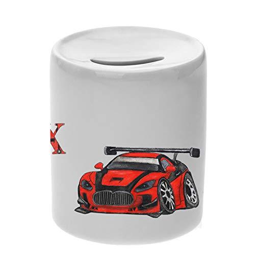 Auto Keramik Spardose mit Name und Schriftartwahl