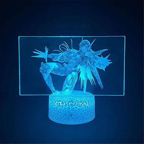 APEX DVA2 - Luz LED 3D de noche, Regalos, con 16 Cambios de Color y Control Remoto, Regalos para Niños a partir de 3 4 5 6 años