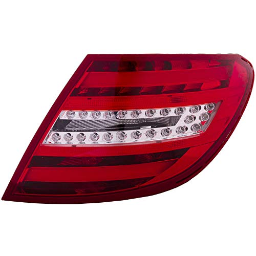 HEADLIGHTSDEPOT Tail Light Right Passenger Compatible with 2012-2015 Mercedes-Benz C-Class Sedan/Coupe C250/C350/C63 AMG