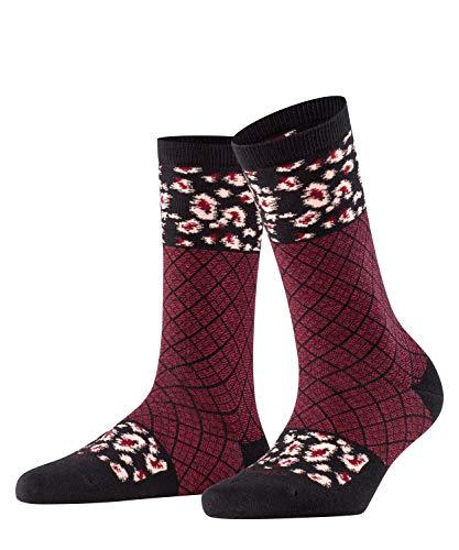 Burlington Damen Punk Check W SO Socken, schwarz (black 3000), Einheitsgröße (DE 36-41)