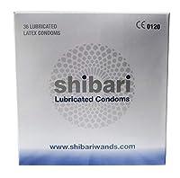 Shibari - Preservativos prémium de látex lubricados, 36 unidades