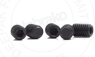 BOJI Set Screw Hexagon Head Set Screw Black Headless Table Set Screw Screw Cover Length : 12mm, Size : M10