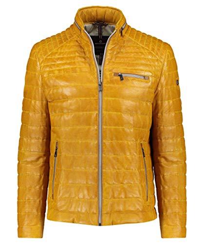 MILESTONE Herren Lederjacke aus Schafsleder Terenz Größe 58 EU Gelb (gelb)