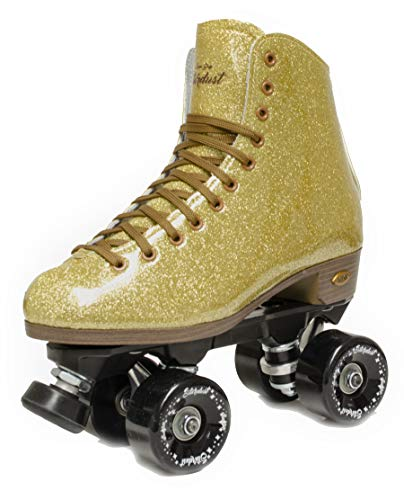 Sure-Grip Stardust Glitter Roller Skate (Gold, Mens 3 / Ladies 4)