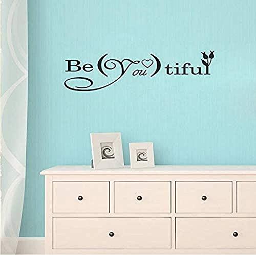 Arte de pared Be vinilo adhesivo para pared letras decoración pegatina jardín de infantes hermoso papel tapiz diseño artístico Mural extraíble 66x22cm