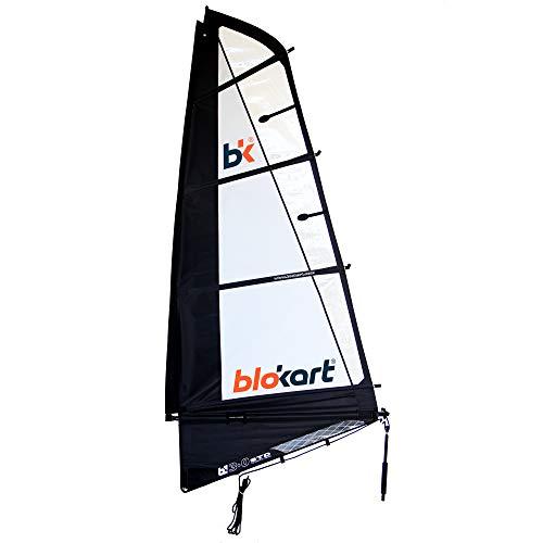 Patiente eléctrico Blokart Sail Complete 3.0m Black Unisex Adulto, Negro, 3.0 m2