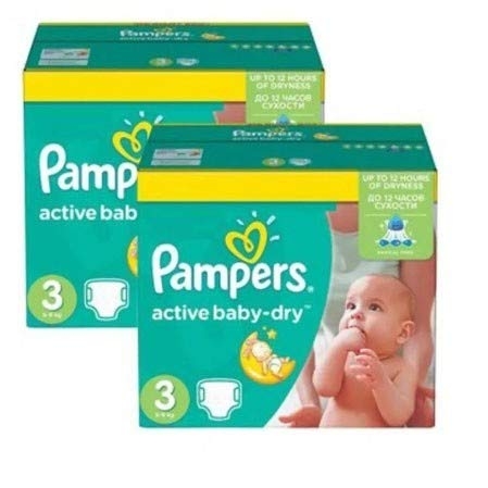 Couches Pampers - Taille 3 active baby dry - 136 couches bébé