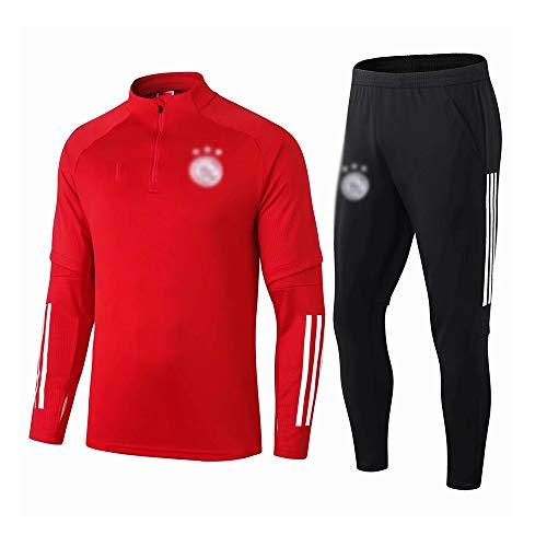 HIAO Camiseta del Club Europeo Entrenamiento de fútbol Traje Club de jóvenes Adultos de Manga Larga con Capucha de la Chaqueta Transpirable Jogging Plus Traje de Pantalones LQ00109 A00201 (Size : L)