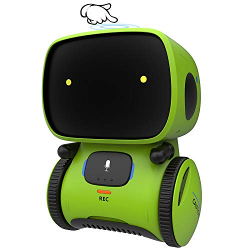 GILOBABY Kids Smart Robot toys, Children Interactive Intelligent Robot toys for 3-9 year old, Girls Boys Robotic Toys, Voice Control& Touch Sense ,Dance& Sing&Walk , Recorder&Speak like you