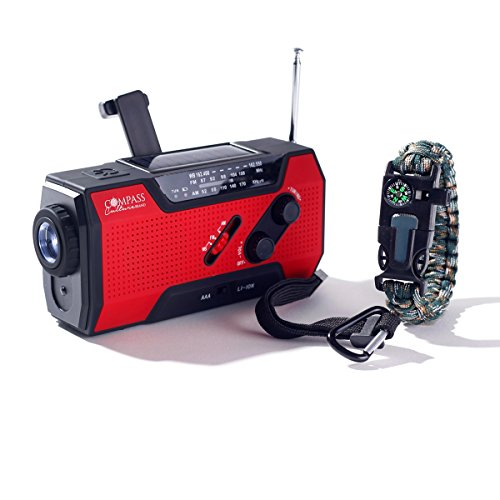Our #7 Pick is the Compass Culture Solar Hand Crank Radio Survival Gear
