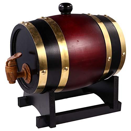 Angoily 1 Dispensador de Barril de Whisky de 5L Barril de Pino Envejecido su Propio Whisky Añejar Cerveza Champán Vino Borbón Whisky Ron Y Más