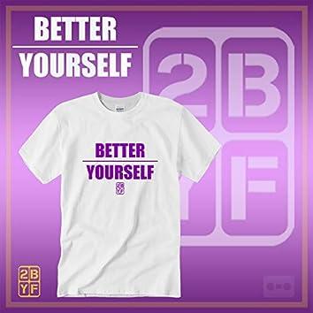 2BYF White T Purple Logo