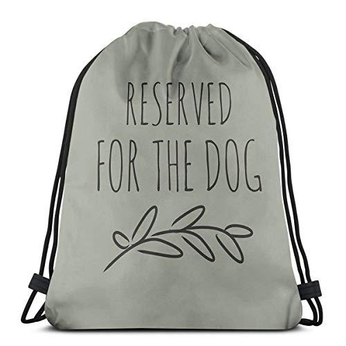 Ameok-Design Reserved for The Dog Schultertasche Kordelzug Rucksack Schultasche Rucksack Gym Sport Tasche Leicht