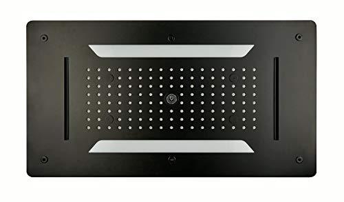 XXL-Regendusche Edelstahl-Deckenbrause DPG5030 superflach schwarz - 70 x 38 cm - Deckeneinbau