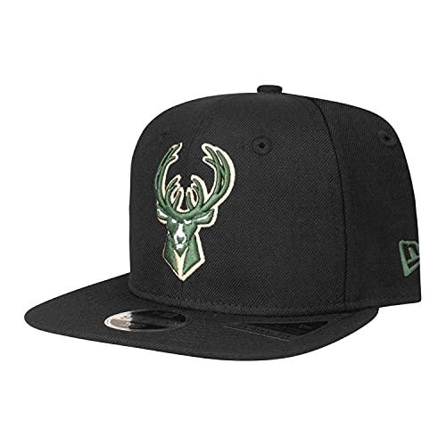 New Era Gorra de béisbol para niños, diseño de la MLB NBA NFL, Unisex niños, Milwaukee Bucks - Botas de esquí, color negro, 54-56