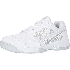 ASICS Women's Gel-Dedicate 6 Tennis Shoes, 8, White/Silver