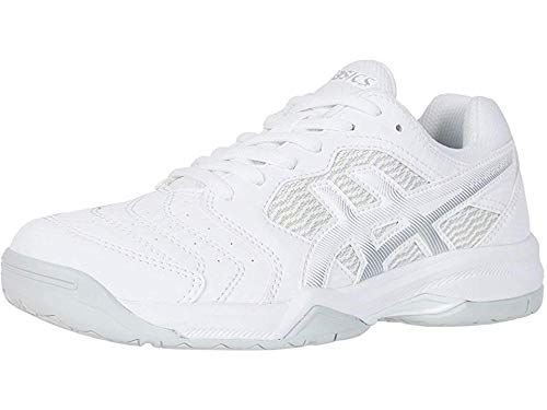 ASICS Gel-Dedicate 6 Women's Tennis Shoes, White/Silver, 7.5 M US