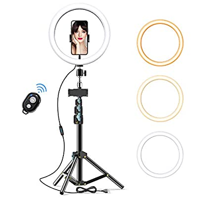10 Selfie Ring Light with Tripod Stand