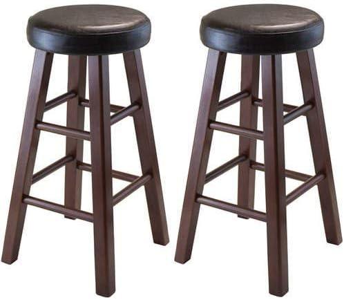 Winsome 推奨 Wood Marta Cushion 希少 Seat Espresso Bar Stools .A Walnu