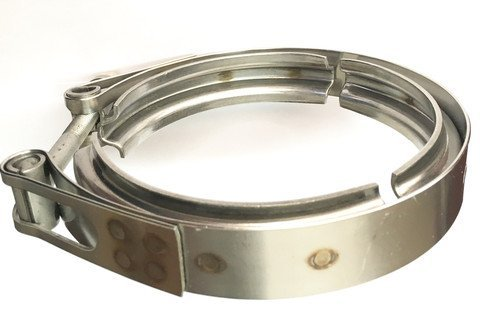 """Ticon Industries - 4"""" Stainless Steel V-Band Clamp (qty1) - Heavy Duty -119-10200-0000"""