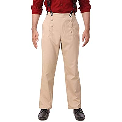 ThePirateDressing Steampunk Victorian Cosplay Costume Architect Mens Pants Trousers