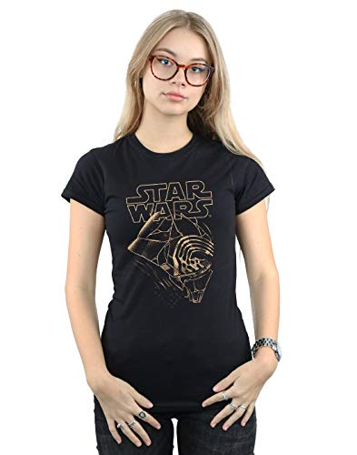 Star Wars Mujer The Rise of The Skywalker Kylo REN Mask Camiseta Negro XX-Large