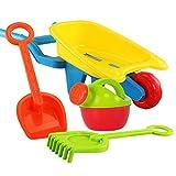 LMIITAM 4pcs Rollenspiel Kinder Strand Spielzeug Set mit Trolley Gießkanne