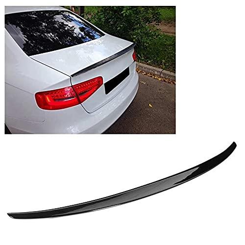 SYZHOU Tapón Tapa Spoiler, Glossy Black High Kick Car Trasero Ajuste para A4 B8 Sedan 2009-2016 B8.5 Sedan 2013-2016 Accesorios para Automóviles