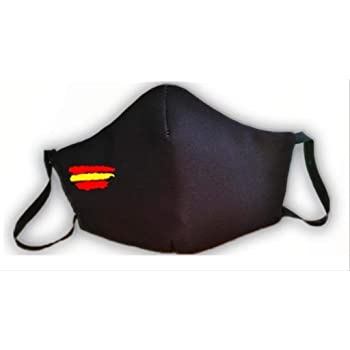Mascarilla homologada protectora negra bandera de España producto fabricado en España: Amazon.es: Hogar