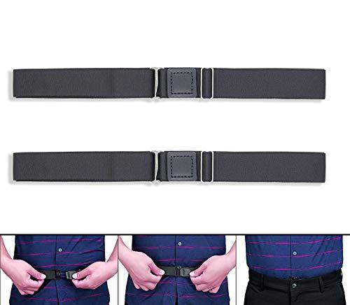 ANDERK Hemdhalter 2 Stück - Shirt Stays Herren - Damit das Hemd in der Hose Bleibt, 120 cm (47,2 Zoll) Lang, Putong Schwarz