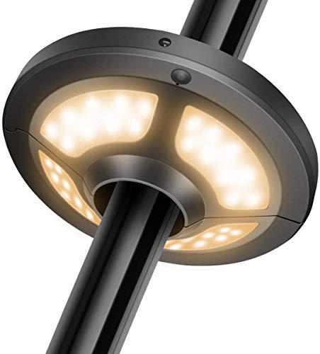Chesbung LED Sonnenschirm Beleuchtung, Sonnenschirm Licht 36 LEDs 2 Helligkeit Modi, mit Solarpanel und Fernbedienung für Garten Terrasse Strand Außenleuchten BBQ (Warmweißes Licht)