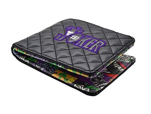 U-Wear Batman Portefeuille pour Homme Noir/Violet 13 x 11 x 4 cm
