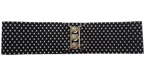 Cinturn elstico de cincha de estilo aos 50, ancho de 3 cm, para mujer, tallas grandes y juveniles - - M/L