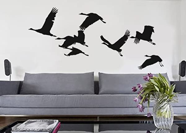 UBer Decals Vinyl Wall Decal Sticker Flying Birds 280 47x103 Inches White