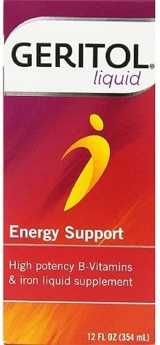 Geritol Liquid Energy Support, High Potency...