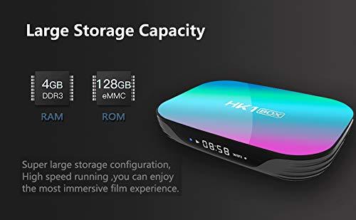 Android 9.0 Smart TV Box HK1 Box Amlogic S905X3 CPU 4GB RAM 128GB 2.4G+5G WiFi 1000M BT4.0 8K Smart Media Player